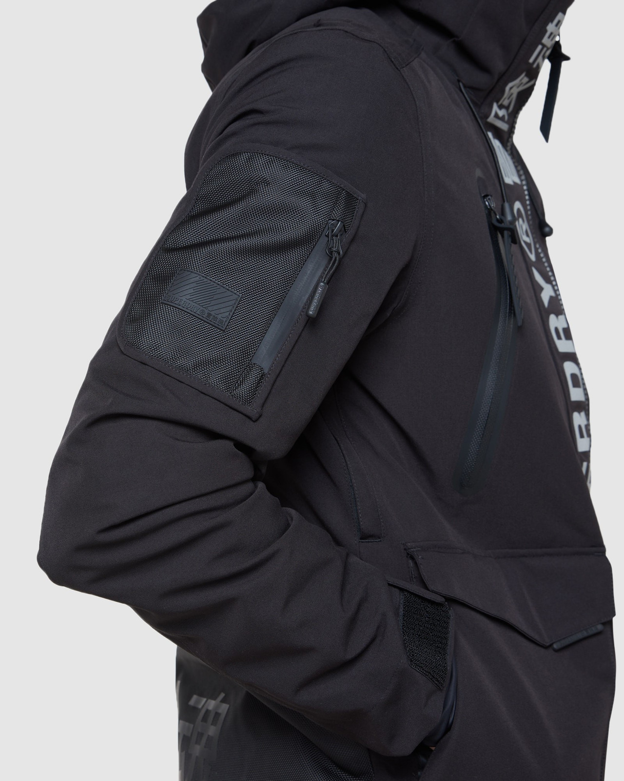 Superdry Mens ULTIMATE MOUNTAIN RESCUE JKT Black Snow Jackets 8