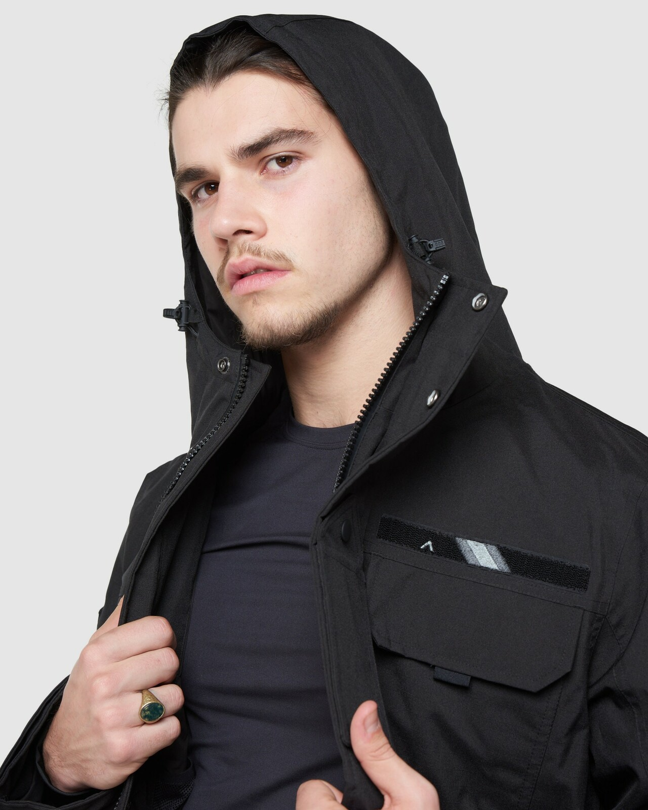 Superdry Mens 4 POCKET SKI ROOKIE Black Snow Jackets 6