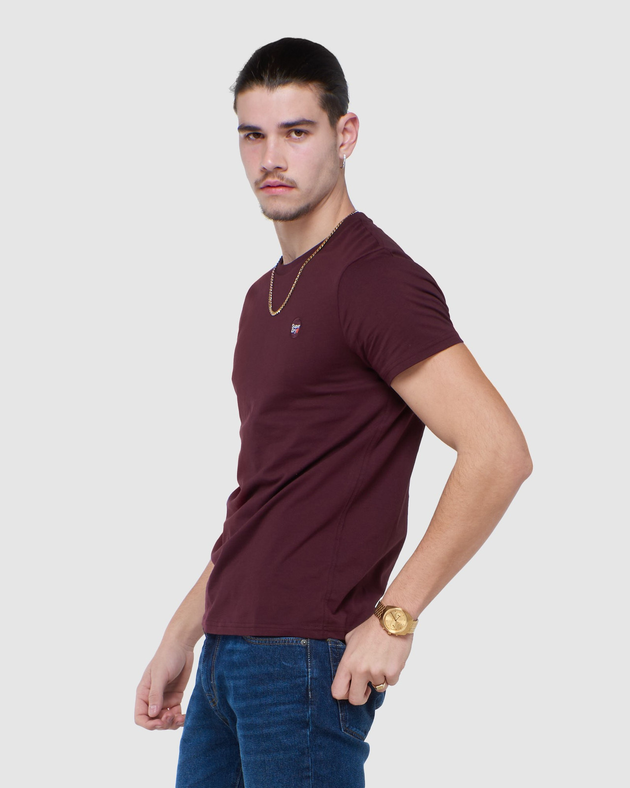 Superdry Mens COLLECTIVE TEE Purple Plain 2
