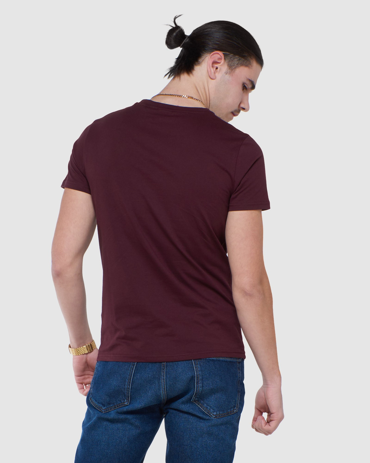 Superdry Mens COLLECTIVE TEE Purple Plain 3