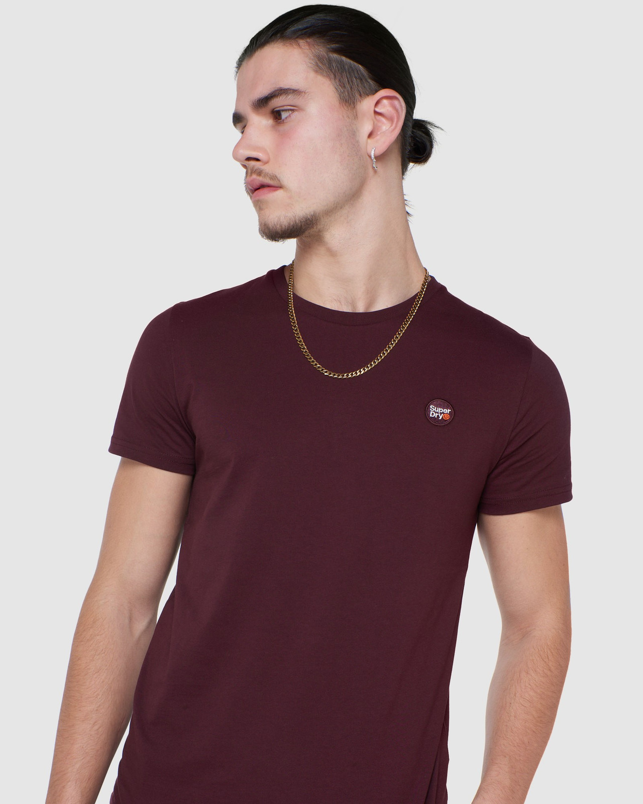 Superdry Mens COLLECTIVE TEE Purple Plain 4