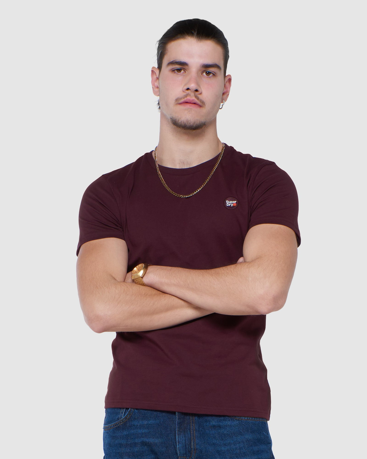 Superdry Mens COLLECTIVE TEE Purple Plain 0