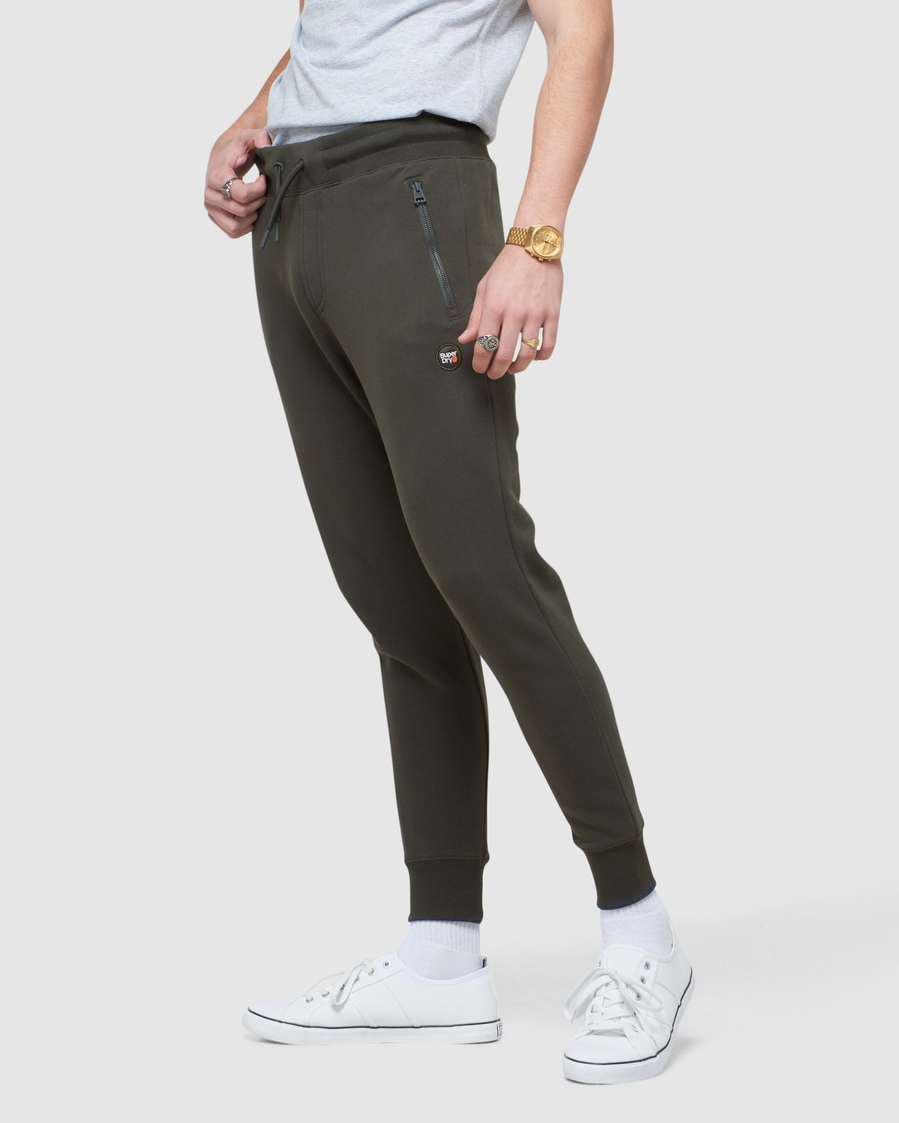 Superdry Mens COLLECTIVE JOGGER Grey Joggers 2