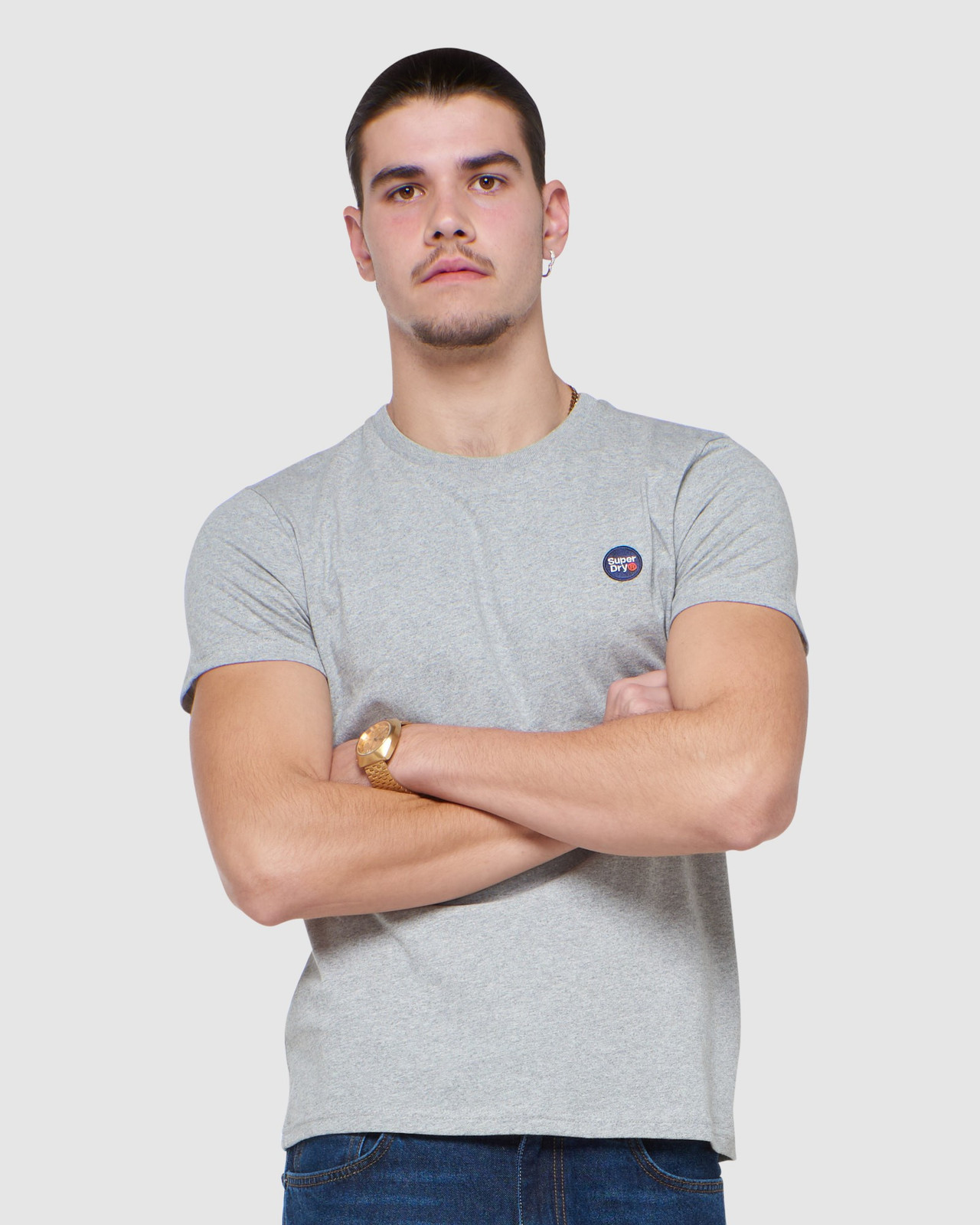 Superdry Mens COLLECTIVE TEE Grey Plain 0