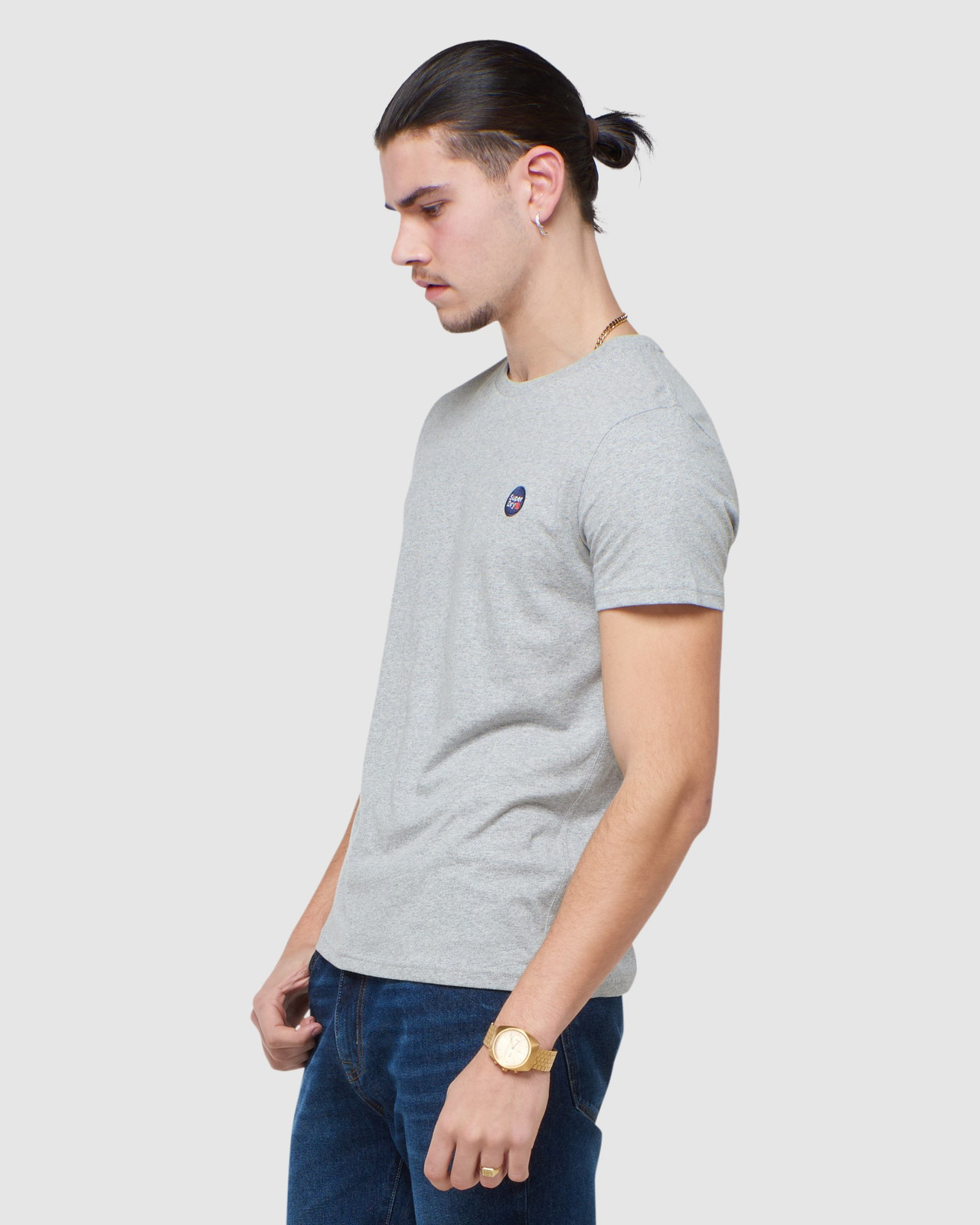 Superdry Mens COLLECTIVE TEE Grey Plain 2