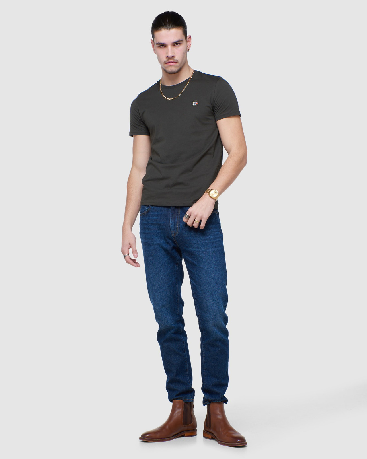 Superdry Mens COLLECTIVE TEE Grey Plain 1
