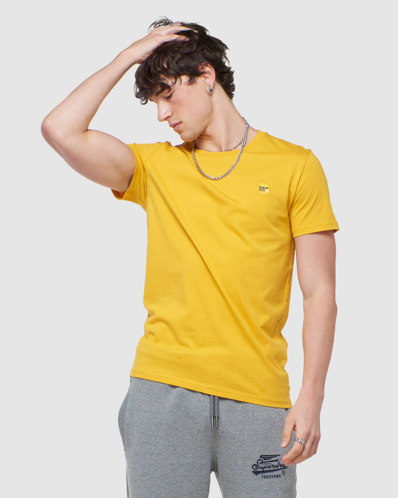 Superdry Mens COLLECTIVE TEE Yellow Plain 0