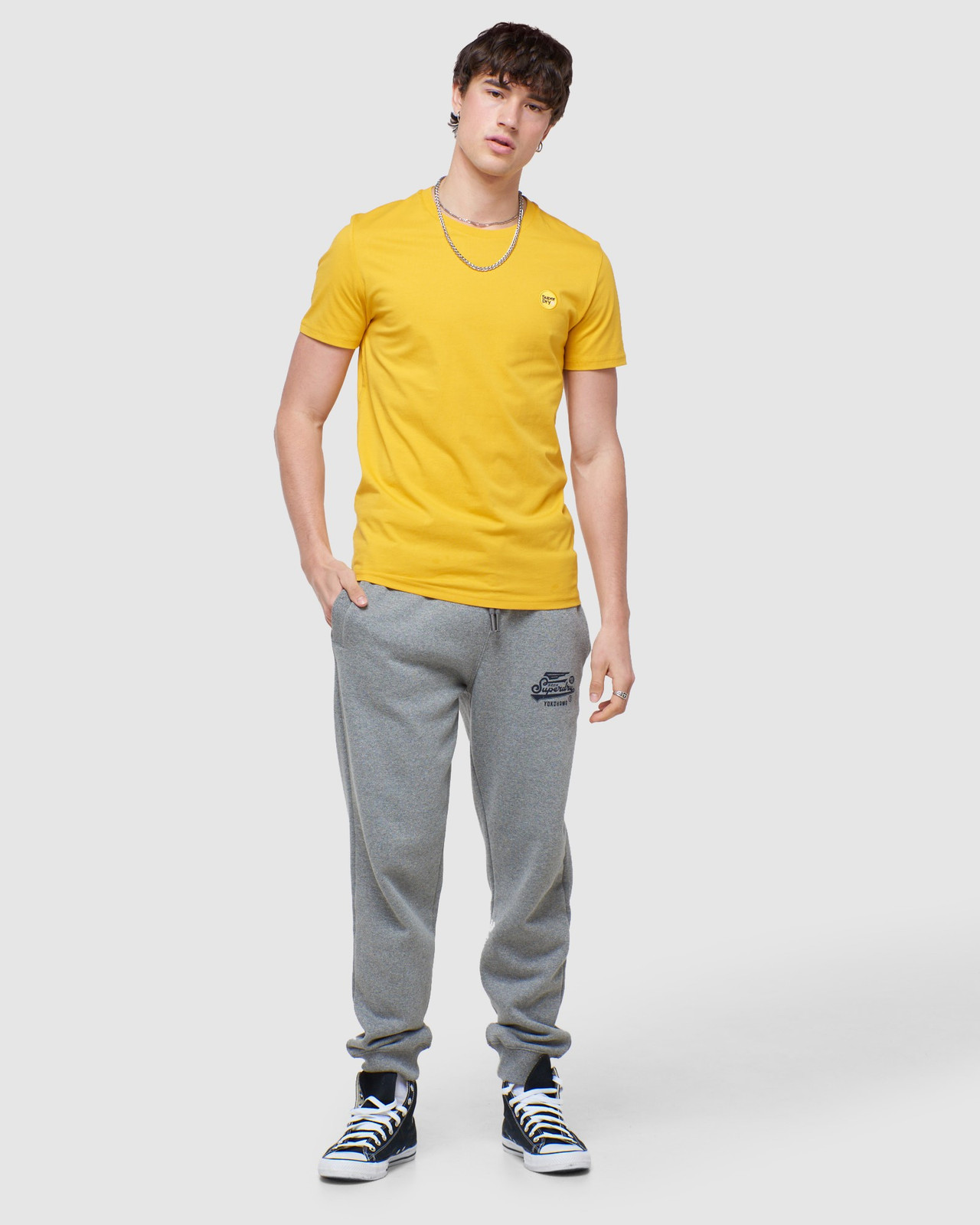 Superdry Mens COLLECTIVE TEE Yellow Plain 1