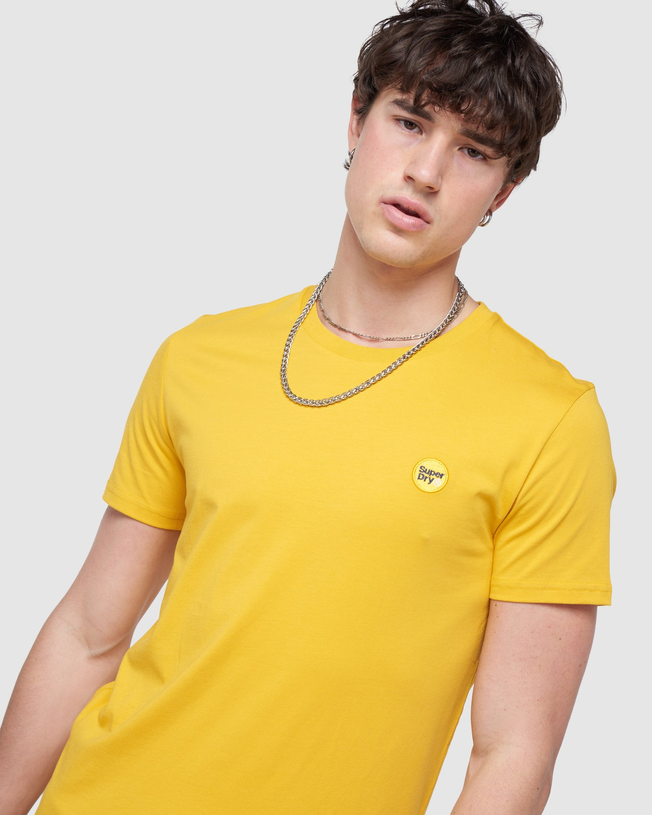 Superdry Mens COLLECTIVE TEE Yellow Plain 4
