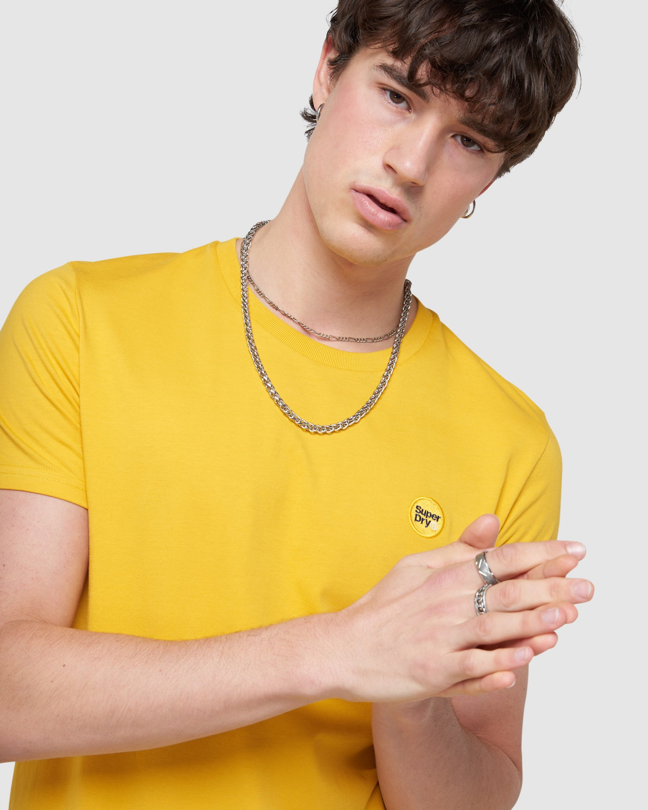 Superdry Mens COLLECTIVE TEE Yellow Plain 5