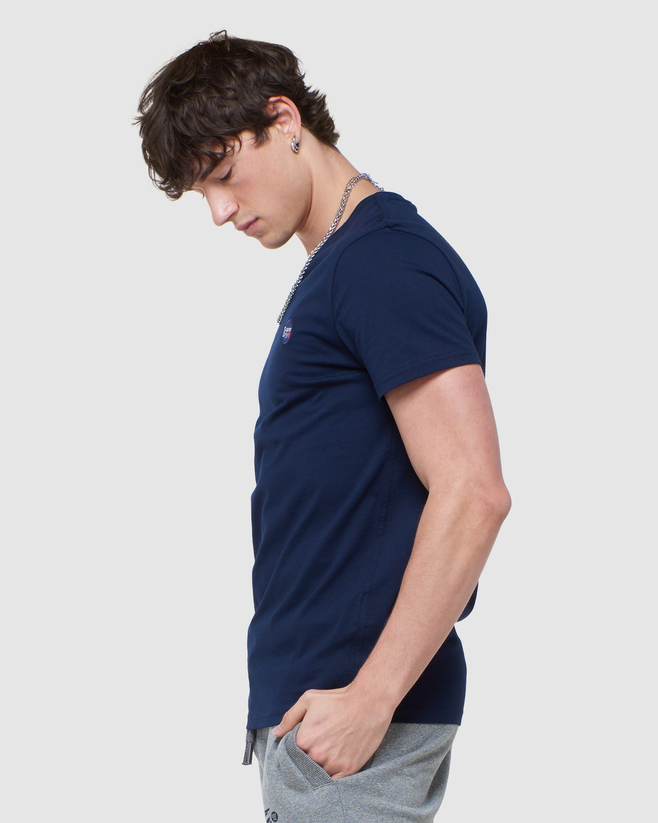 Superdry Mens COLLECTIVE TEE Navy Plain 2