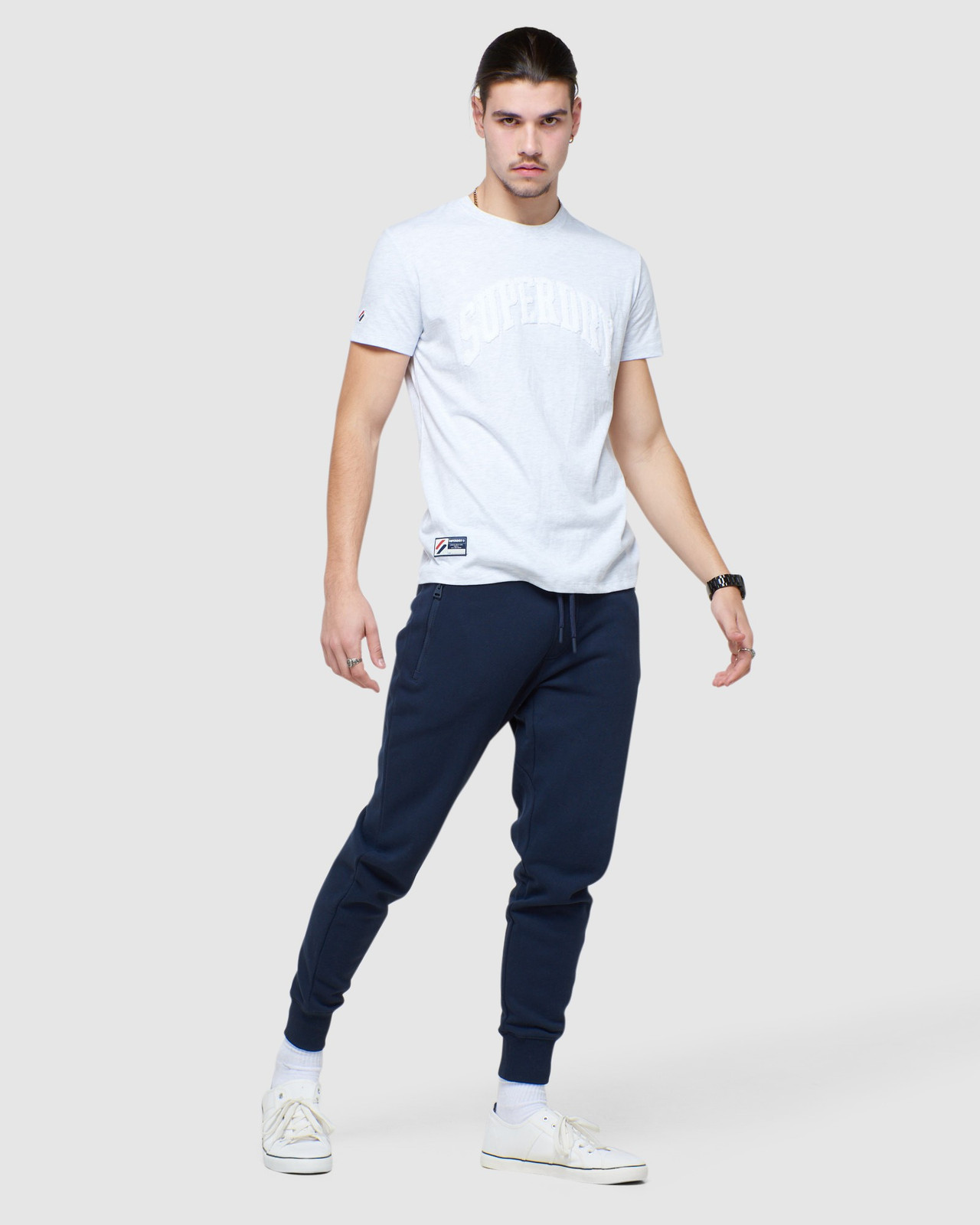 Superdry Mens COLLECTIVE JOGGER Navy Joggers 1