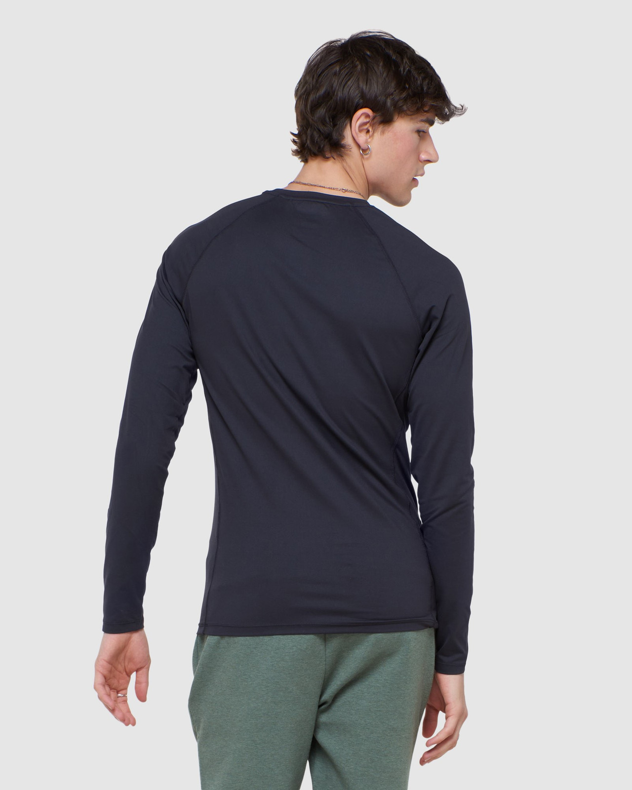 Superdry Mens CREW NECK CARBON BASE LAYER Black Long Sleeve Top 4