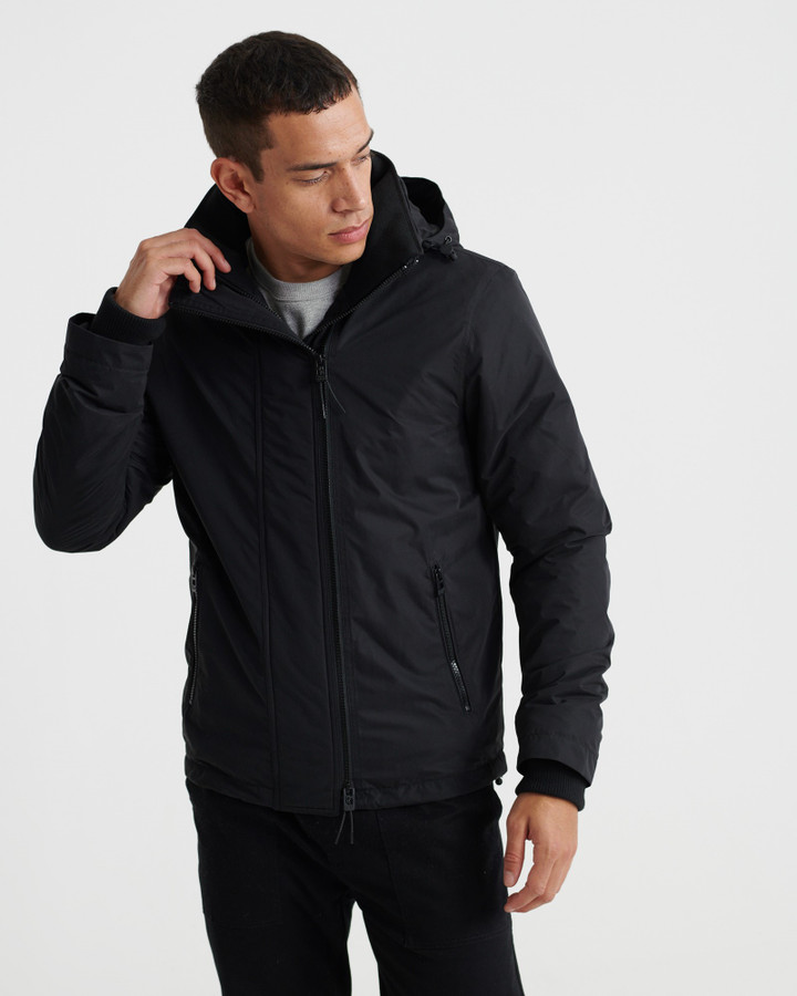 Superdry Microfibre Windcheater  Black