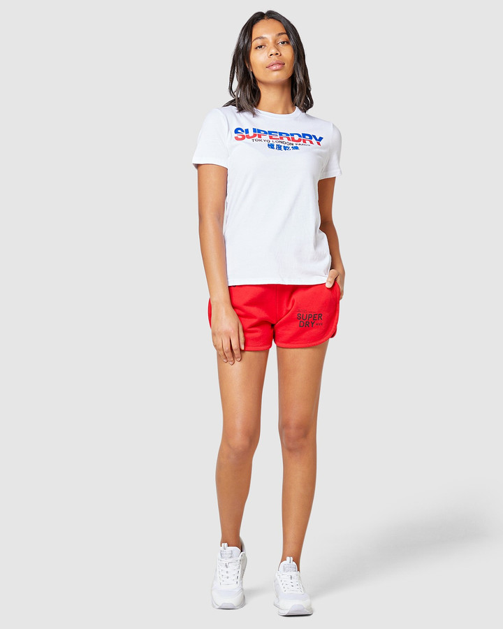 Superdry City Nights Splice Entry Tee Optic