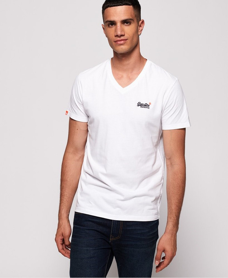 Superdry Ol Vintage Emb Vee Tee New Optic