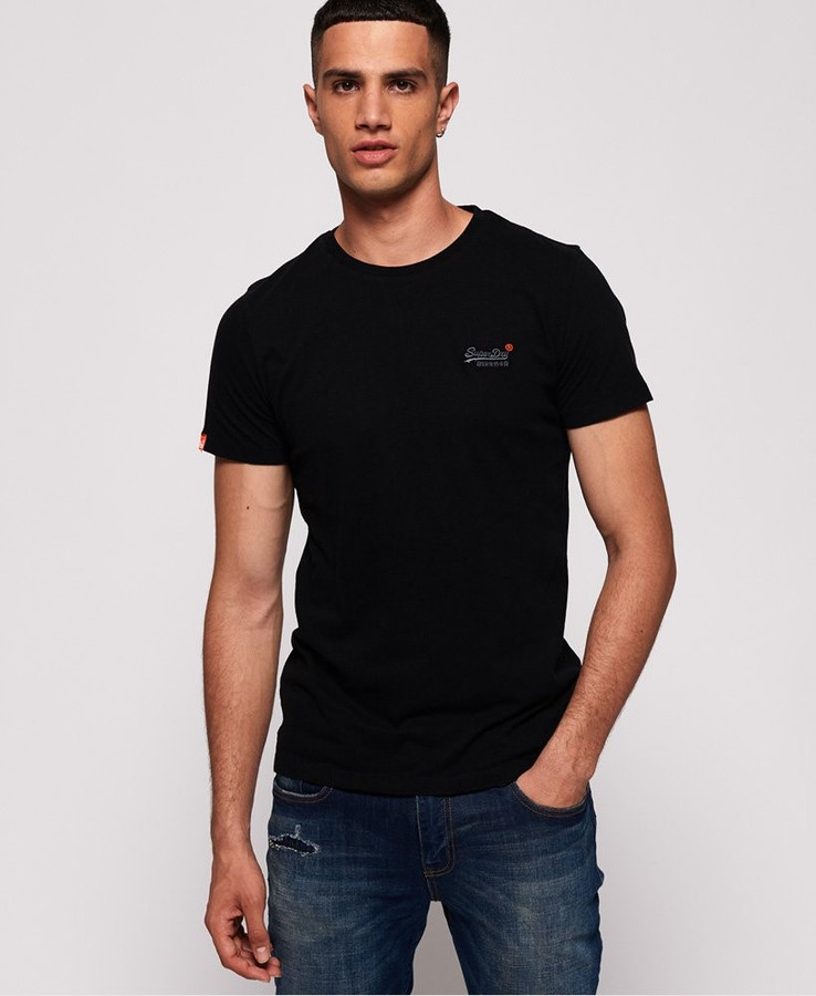 Superdry Ol Vintage Emb Tee New Black