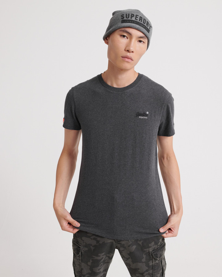 Superdry Ol Vintage Embroidery Tee Nordic Charcoal Marle