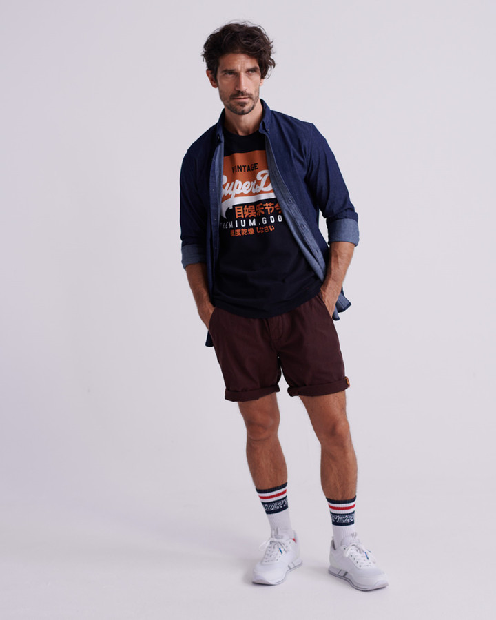 Superdry Sunscorched Short Merlot And Black