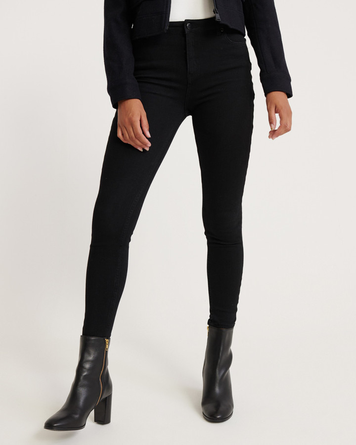 Superdry Superflex  Skinny High Rise Stay Black