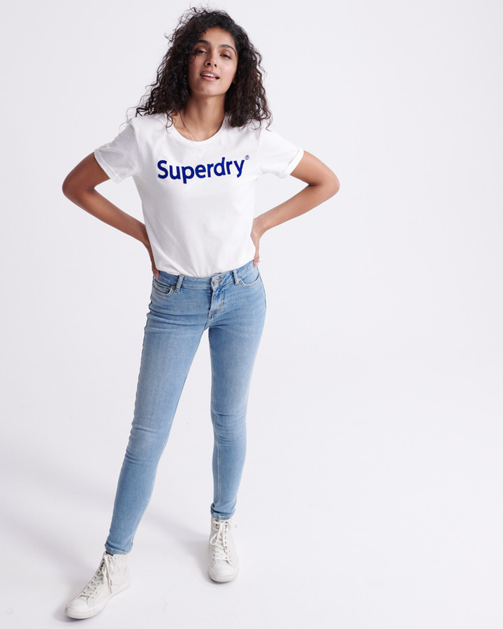 Superdry Supervintage  Skinny Mid Rise Deep Water Blue