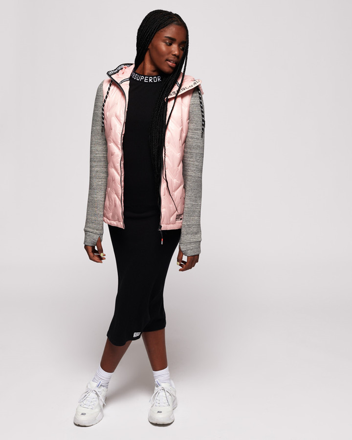 Superdry Storm Injected Luxe Hybrid Oyster Pink