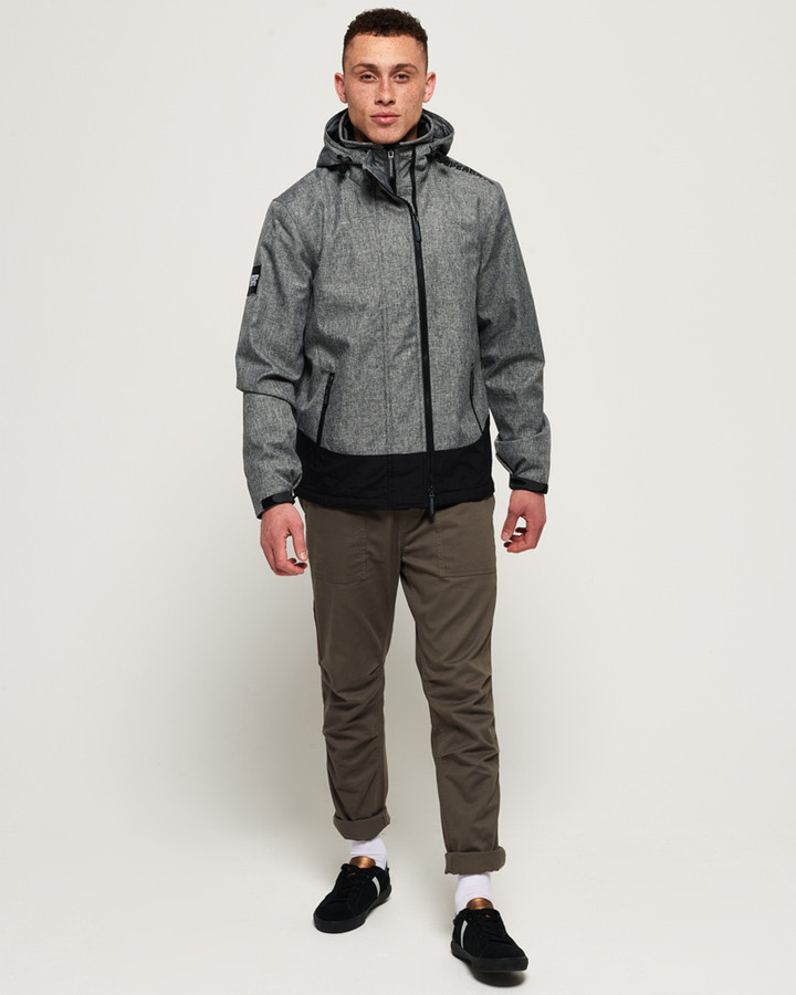 Superdry Hooded Arctic Windcheater Mid Grey Marle