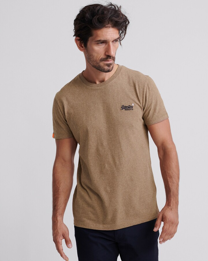 Superdry Ol Vintage Embroidery Tee Buck Tan Marle