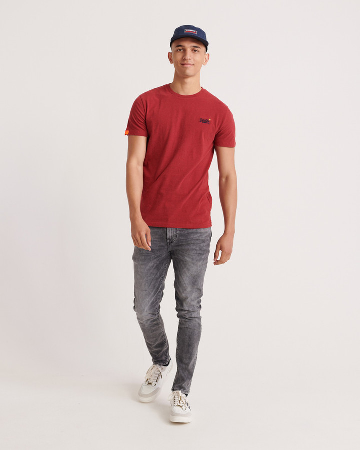 Superdry Ol Vintage Embroidery Tee Creek Red Marle