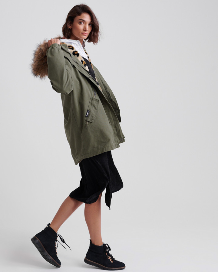 Superdry Lucy Rookie Parka Khaki