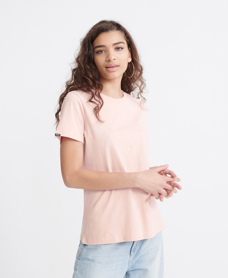 Superdry Ol Elite Crew Tee Dusty Pink