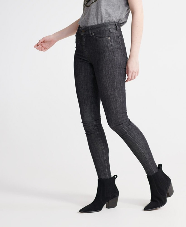 Superdry Super Crafted Skinny Mid Rise Karlson Black