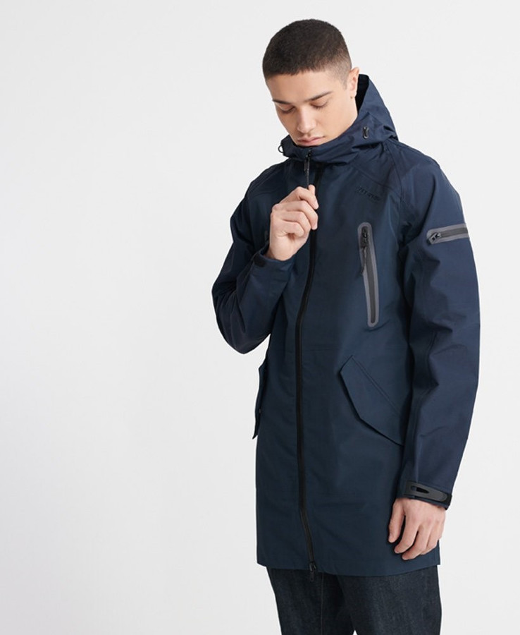 Superdry Hydrotech Waterproof Parka  Navy