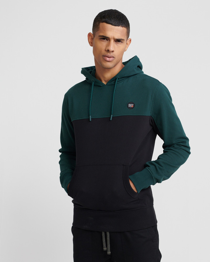 Superdry Collective Colour Block Hood Pine
