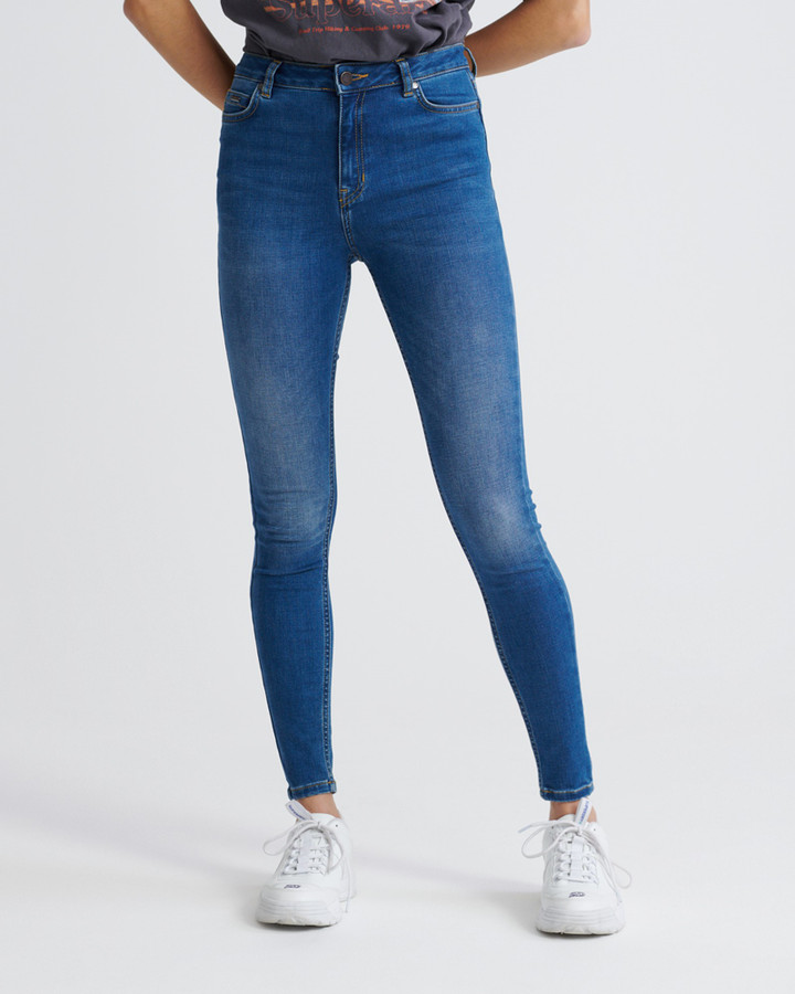 Superdry Superthermo  Skinny High Rise Vapour Blue