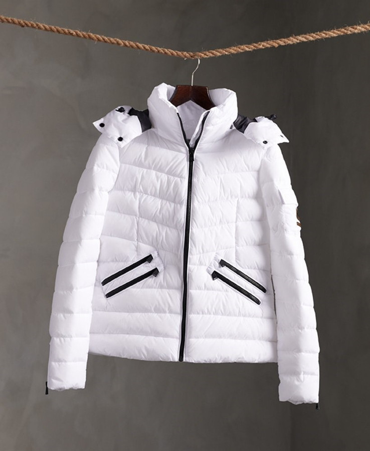 Superdry Luxe Quilt Padded Jacket Optic