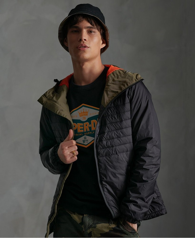 Superdry Desert Alchemy Quilted Hoody Black