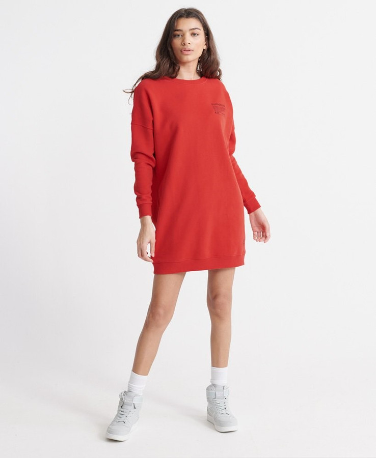 Superdry Alchemy Sweat Dress Apple Red