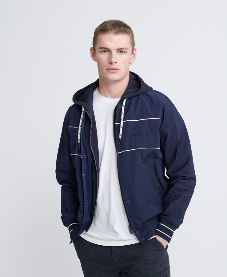 Superdry Hooded Summer House Bomber Richest Navy