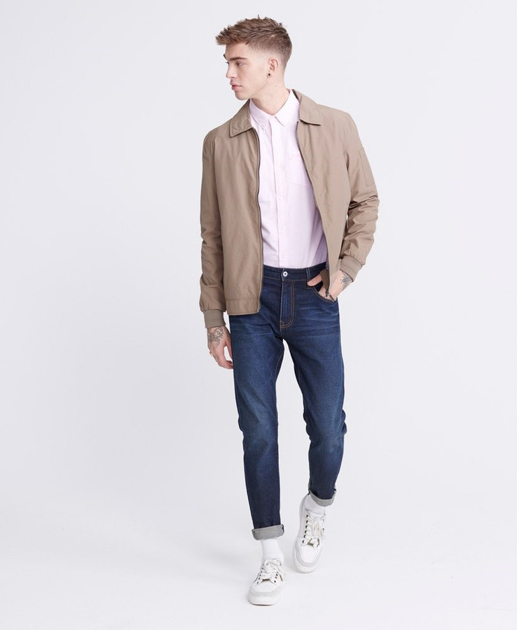 Superdry Collared Harrington Combat Brown