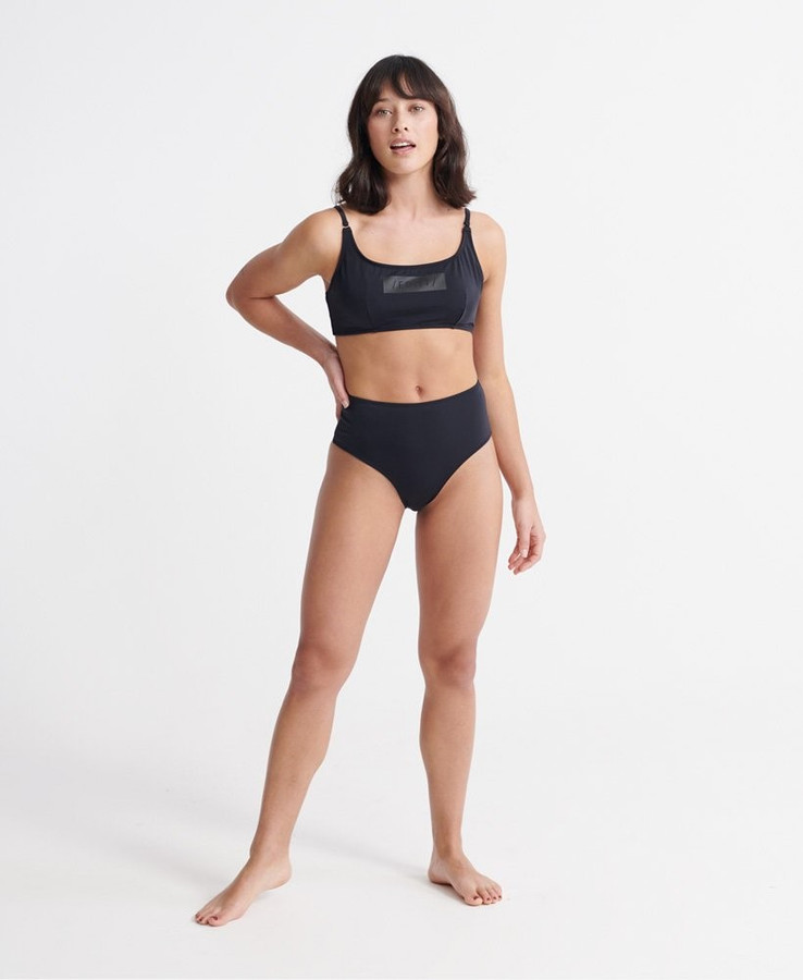 Superdry Edit High Waist Bikini Bottom Black