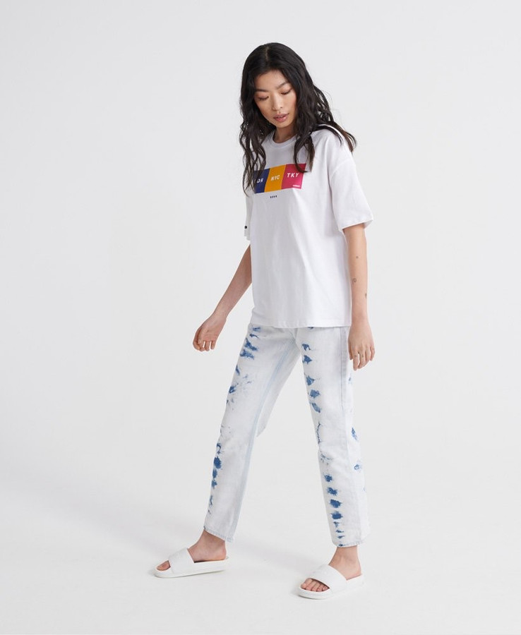 Superdry City Unity Box Fit Tee Optic