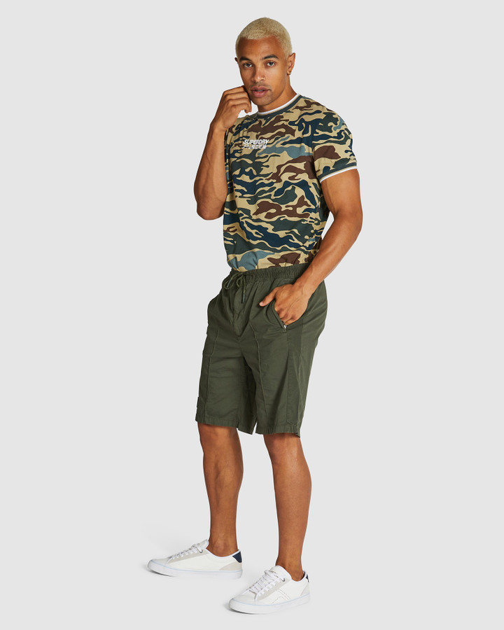 Superdry Training Short Olive