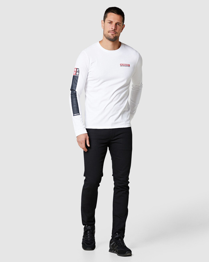 Superdry Trophy Graphic Ls Tee Optic