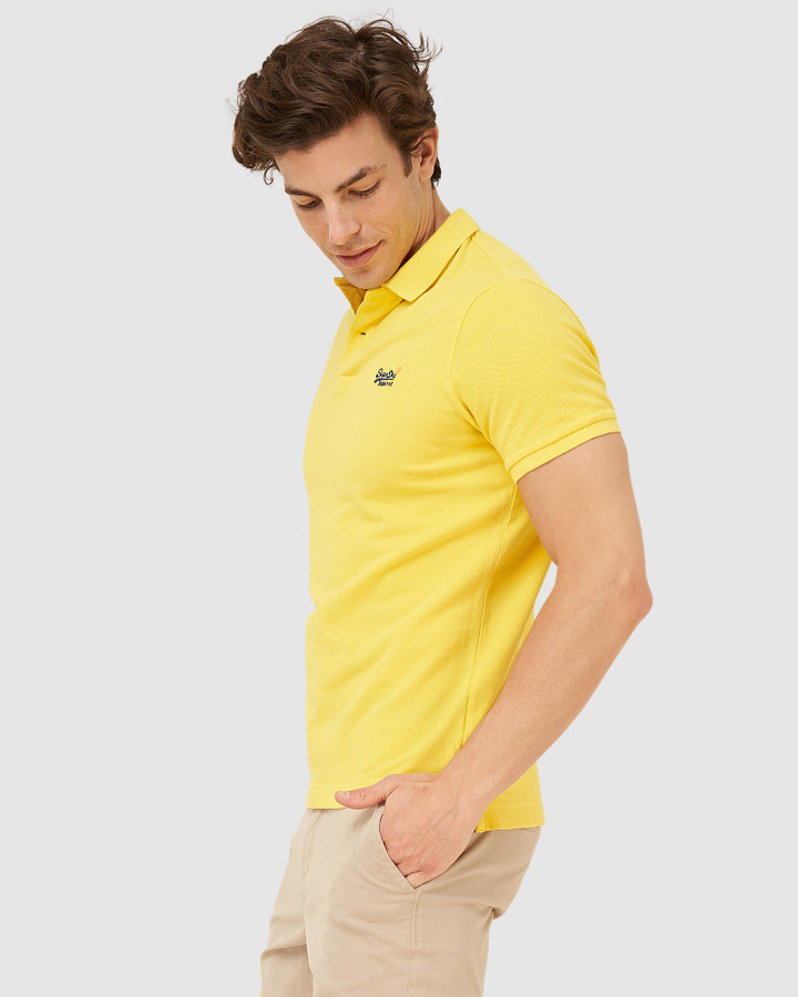 Superdry Classic Pique S/S Polo Bright Yellow Twist