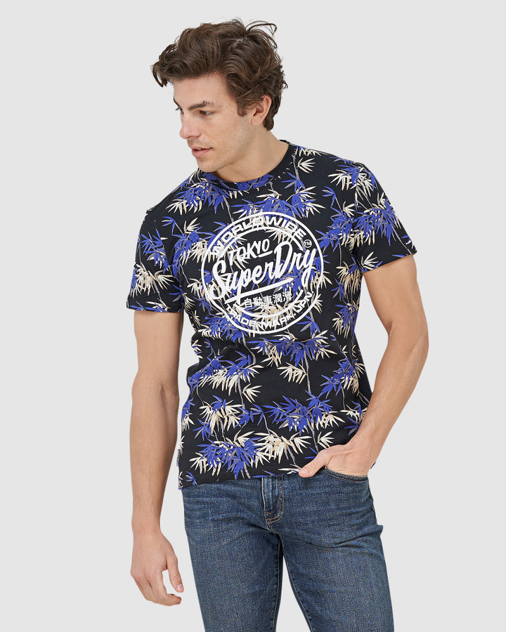 Superdry Super 5's Tee Bamboo Oriental Blue