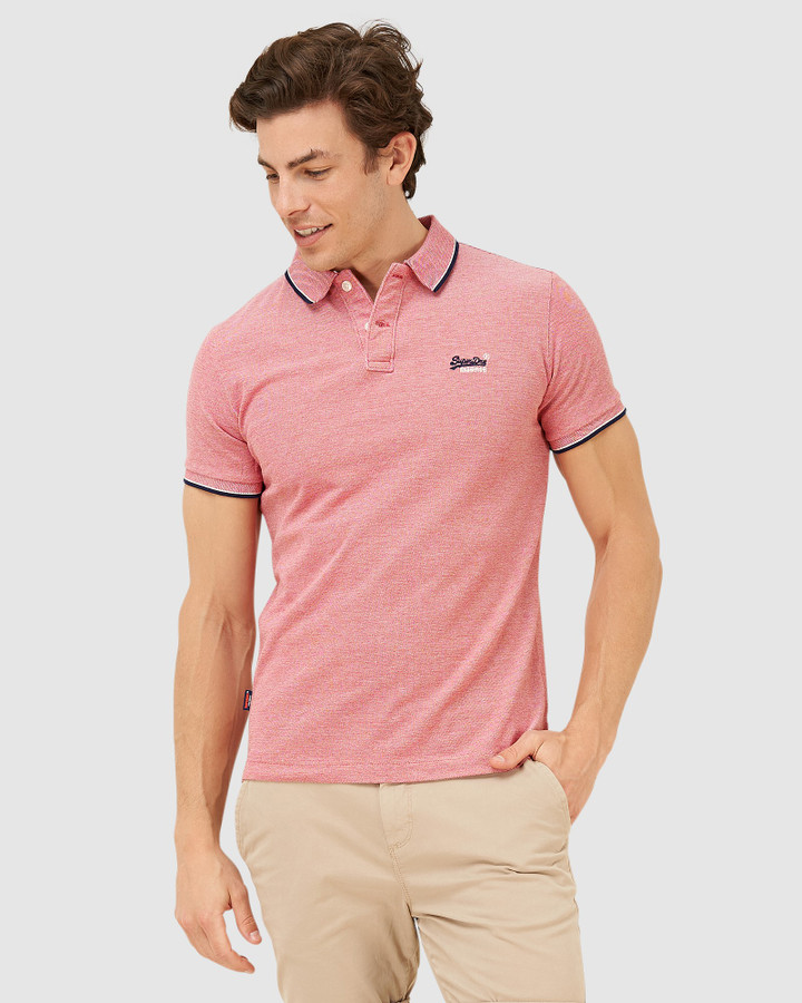 Superdry Poolside Pique S/S Polo Coral