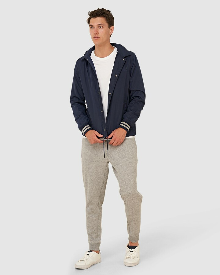 Superdry Baseball Hooded Coach Navy