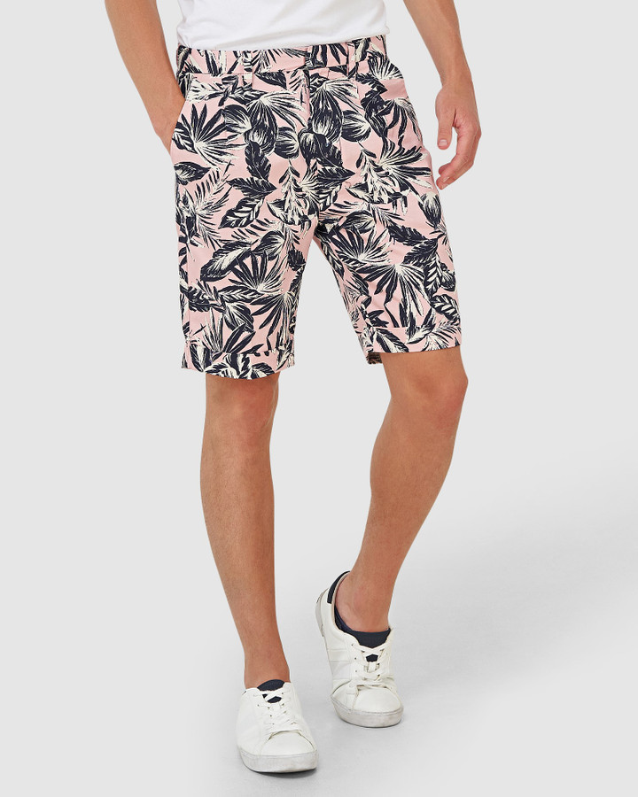 Superdry Edit Pleat Chino Short Pink Palm