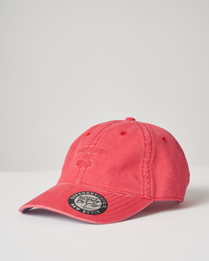 Superdry Shoreline Cap Vintage Red